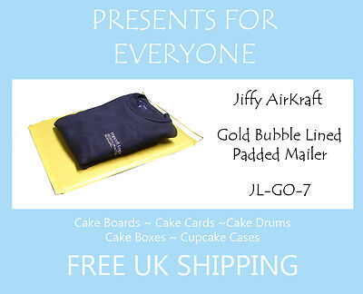 20 x Jiffy Airkraft Gold Bubble Lined Postal Padded Mailing Bags JL-GO-7 K/7