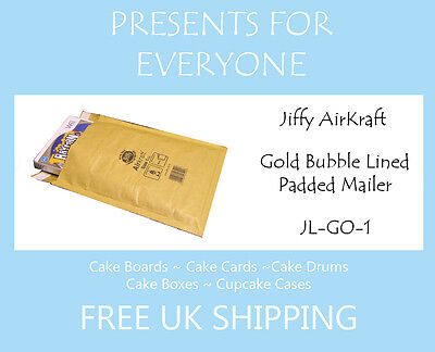 10 x Jiffy Airkraft Gold Bubble Lined Postal Padded Mailing Bags JL-GO-1 D/1 DVD