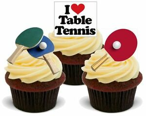 NOVELTY TABLE TENNIS MIX STAND UP Edible Cake Toppers ...