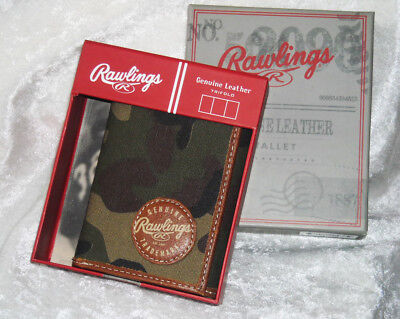 RAWLINGS CAMO LEATHER Tri-fold WALLET New In Box! Hunters/Sportsman Camouflage
