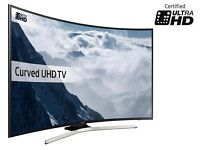 SAMSUNG 65 CURVED SMART UHD HDR 4K 1600PQI FREEVIEW HD