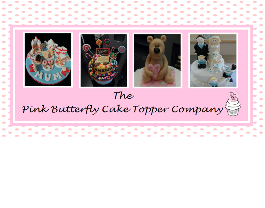 Pink Butterfly Cake Topper Company