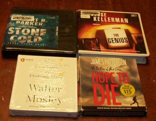 4  Mystery Thriller Audiobooks on CDs Lot #181 Jesse Kellerman James Patterson+