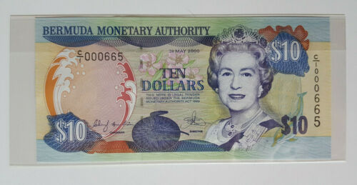 2000 Bermuda $10 Bermuda Monetary Authority Banknote LOW SERIAL # C/1 MINT!!!!!!