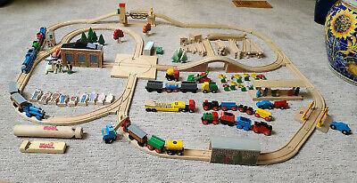 BRIO 1980s Wooden Hardwood TOY Train Set - 117 PiecesThomas The Tank Engine
