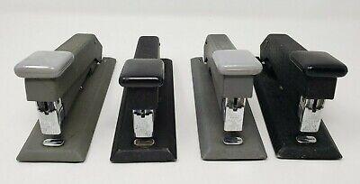 Lot Of 4 Vintage Bostich Black Metal Stapler Model B5 Made In Usa