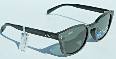 HOBIE Wrights POLARIZED Sunglasses Black Wood Grain/Grey NEW Surf/Beach NEW