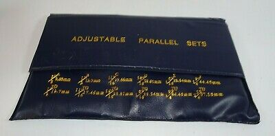 Accusize Industrial Tools 6 Pair Adjustable Precision Parallel Set Eg02-5001