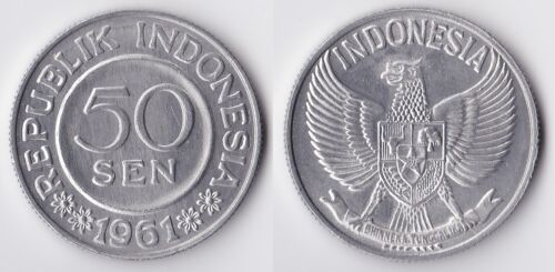 1961 Indonesia 50 sen coin