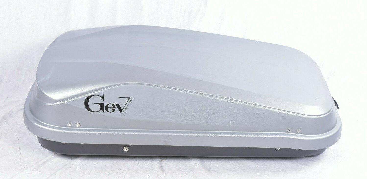 GEV 9017 Universal Dachbox 320L 132x78x36cm Grau Auto Dachgepäck 25