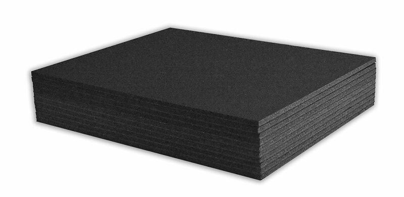 "Mat Board Center, Pack of 10 3/16"" BLACK Foam Core Backing Boards (8x10, BLACK)"