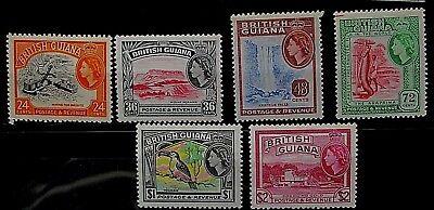 British Guiana 1963/5 Definitive Part Set. MM.