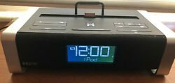 iHome iA100 Docking Station Apple iPod iPhone Dual Alarm Clock radio blue tooth