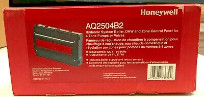Honeywell Aq2504b2 Aquatrol Boiler Control Panel For 4 Zones Of Pumps2-wire Vlv