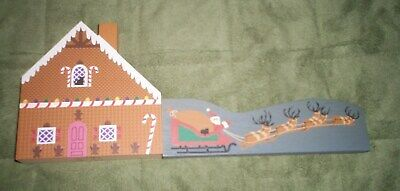 The Cat's Meow Christmas Santa Sleigh & Reindeer accessory. & Gingerbread House