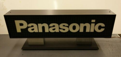 Vintage Panasonic Double Sided Lighted Advertising Sign