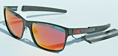 O'NEILL Clipper POLARIZED Sunglasses Matte Black/Red Mirror $79 Surf/Beach