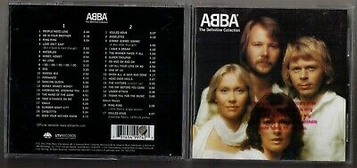 Abba Definitive Collection 2 CD 37 tx best of greatest hits promo sticker S.O.S.