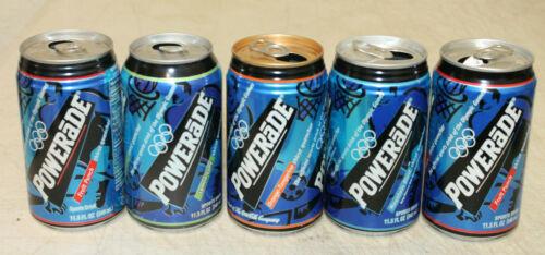 5 POWERADE SODA CANS EMPTY LOT #2