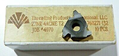 10 Pieces Tpi 27nr 4acme T2 Carbide Inserts  H494