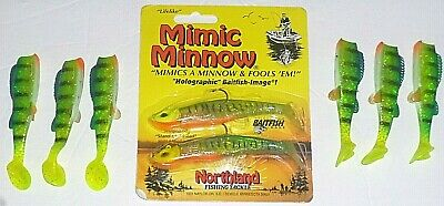 NIP Select One Northland Mimic Minnow Fire Tiger Silver Shiner