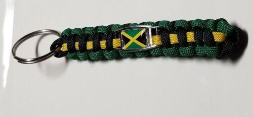 Jamaica Flag Handmade Paracord Key Chain made in USA