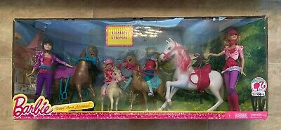 Barbie & Her Sisters In Pony Tale Horse Playset 4 Dolls 4 Horses etc NEW Sealed