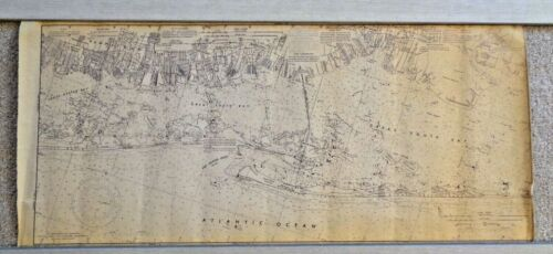 """GREAT SOUTH BAY DEPT OF COMMERCE 1973 MAP, 14 1/2"""" X 33"""" WITH HEMPSTEAD,"""