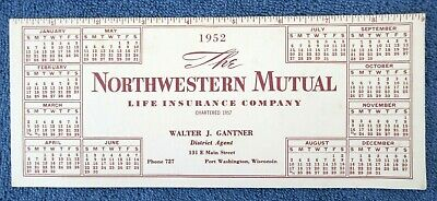 Vintage 1952 Unused Advertising Ink Blotter Northwestern Mutual Life Insurance