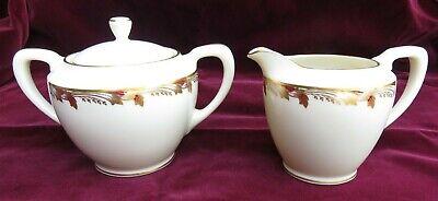 Lenox China Covered Sugar Bowl (Lenox fine china Essex 0351R maroon covered sugar bowl & creamer EUC)
