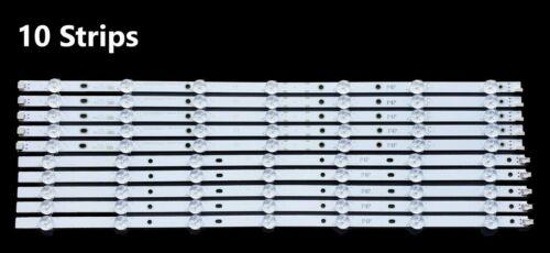 LB55076 E55-D0 Vizio LB55076 IC-C-VZAA55D697B LED Backlight Strips Full Set(10)