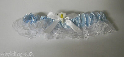 Wedding Ceremony Reception Party Calla Lily Garter Blue Toss for Groom