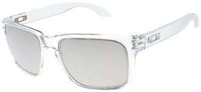 Oakley Holbrook Sunglasses OO9102-06 Polished Clear | Chrome Iridium Lens | BNIB