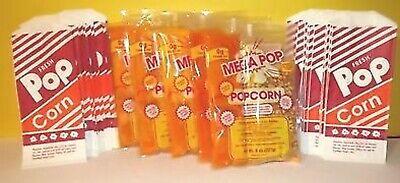 25 Serving Popcorn Kit W1 Oz Bags 6 Oz Kettle Free Shipping
