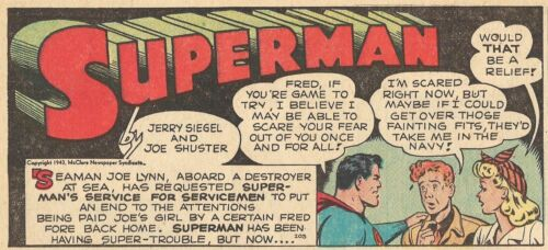 RARE  VINTAGE SUPERMAN SUNDAY PAGE #203 From 1943 - GREAT IMAGES