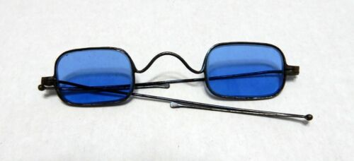RARE ANTIQUE SPECTACLE - FRENCH WIRE - SUNGLASSES - FOLDING ARMS
