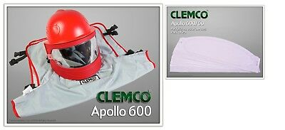 Clemco Apollo 600 Respirator Helmet With Dlx Suspension 25pack Outer Lenses