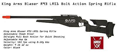 King Arms GEN I Blaser R93 LSR1 Airsoft Bolt Action  Spring Sniper Rifle (King Arms Spring)