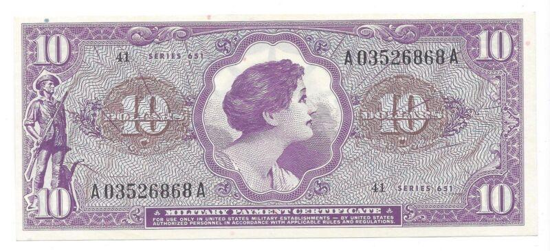 MPC Series 651  10 Dollars  GEM UNC