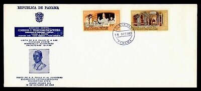 DR WHO 1968 PANAMA FDC POPE PAUL VI SPACE OVPT COMBO  g21808