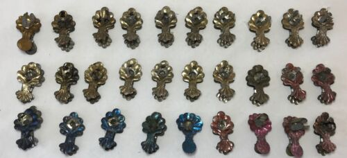 Lot 29 Antique Victorian Christmas Tree Candle Holders Clip on Tin Metal