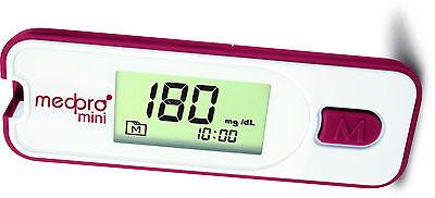 medpro mini Blutzucker-Messgerät Startset inkl. 0 - 200 Teststreifen - neu+OVP