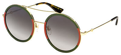 Gucci Sunglasses GG0061S 003 Endura Gold Frame | Green Gradient (Gucci Sunglasses Lenses)