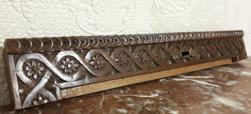 Rosette entrelas flower carving pediment Antique french architectural salvage