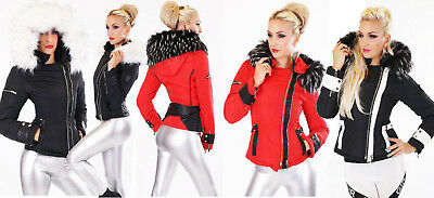 Giubbotto donna giaccone imbottito eco pelliccia staccabile NUOVO #eBayDonaPerTe
