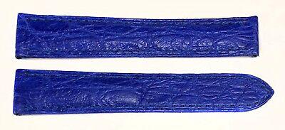 Authentic Cartier 16MM x 14MM Lapis Blue Matt Alligator Watch Bands KD02D952