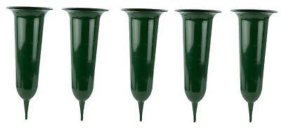 5 Stück Grabvase Steckvase Friedhofsvase Erdvase Grabschmuck Vase 23 cm