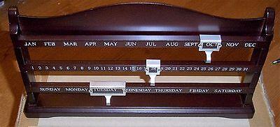 Jude Desk Calendar -  Expresso - New Factory Sealed Box Box Desk Calendar