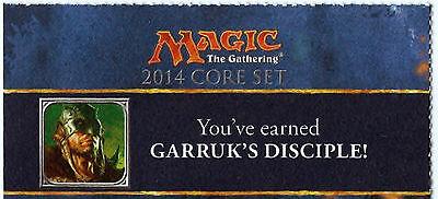 Garruk's Disciple M14 PreRelease  Promotional Card Code Promo M14 MTG Magic (Promotion Codes)