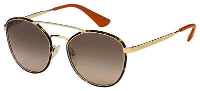 Prada Sunglasses PR 63TS 2AU3D0 55 Gold/Havana Frame | Brown Gradient Lens